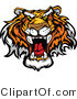 Vector of a Dominant Tiger Growling - Cartoon Mascot Design by Chromaco