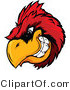 Vector of a Dominate Cartoon Cardinal Mascot with Intimidating Eyes While Gritting Teeth by Chromaco