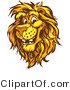 Vector of a Friendly Cartoon Male Lion Mascot Smiling by Chromaco