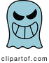Vector of a Grinning Cartoon Ghost by Zooco