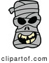 Vector of a Grinning Cartoon Halloween Mummy by Zooco