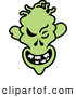 Vector of a Grinning Cartoon Halloween Zombie by Zooco