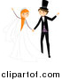 Vector of a Happy Bride and Groom Dancing at Their Wedding by BNP Design Studio