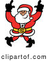 Vector of a Happy Cartoon Santa Dancing with a Big Smile by Zooco
