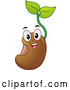 Vector of a Happy Cartoon Seedling Plant Mascot by BNP Design Studio