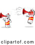 Vector of a Happy Mad Cartoon Spain Air Horn Characters by Holger Bogen