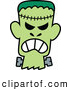 Vector of a Mad Cartoon Halloween Frankenstein by Zooco