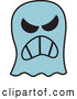 Vector of a Mad Cartoon Halloween Ghost by Zooco
