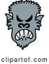 Vector of a Mad Cartoon Halloween Werewolf by Zooco