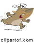 Vector of a Scared Cartoon Bear with Honey All over His Face Running from a Swarm of Bees by Toonaday
