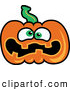 Vector of a Scared Cartoon Jackolantern Pumpkin by Zooco