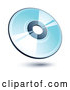 Vector of a Shiny Blue CD Compact Disk by Beboy