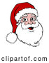 Vector of a Smiling Cartoon Christmas Santa by AtStockIllustration