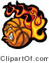 Vector of a Strong Flaming Basketball Mascot Character by Chromaco