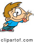 Vector of a Teasing Cartoon Boy Sticking His Tongue out and Making a Funny Face by Toonaday