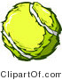 Vector of a Tennis Ball by Chromaco