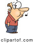 Vector of a Whistling Cartoon Man Patiently Waiting with His Hands in His Pockets by Toonaday