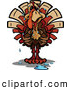 Vector of a Worried Cartoon Turkey Sweating by Chromaco
