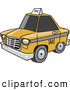Vector of a Yellow Taxi Cab with Dark Tinted Windows by Toonaday