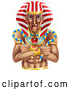 Vector of Ancient Egyptian Pharaoh by AtStockIllustration