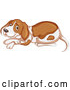 Vector of Beagle or Hound Dog Resting by Graphics RF