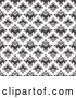 Vector of Black and White Seamless Damask Pattern by Arena Creative