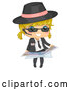 Vector of Blond Secret Agent Girl Holding a Map by BNP Design Studio