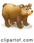 Vector of Blue Eyed Bear by Graphics RF