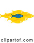 Vector of Blue Fish Standing out from a Group of Yellow Fish by ColorMagic