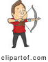 Vector of Cartoon Archer Guy Aiming an Arrow by BNP Design Studio