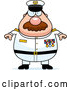 Vector of Cartoon Chubby Navy Admiral Guy by Cory Thoman