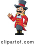 Vector of Cartoon Circus Ringmaster Guy Waving by Visekart