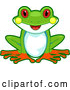Vector of Cartoon Cute Happy Tree Frog Sitting by BNP Design Studio