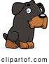 Vector of Cartoon Cute Rottweiler Puppy Dog Sitting by Cory Thoman
