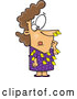 Vector of Cartoon Forgetful White Businesswoman with Sticky Notes All over Her Dress and Nose by Toonaday