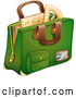 Vector of Cartoon Green School Bag by Graphics RF