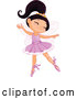 Vector of Cartoon Happy Ballerina Princess Girl Dancing by Pushkin