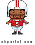 Vector of Cartoon Happy Black Football Player Boy by Cory Thoman