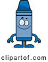 Vector of Cartoon Happy Blue Crayon Character Smiling by Cory Thoman