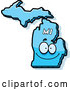 Vector of Cartoon Happy Blue Michigan State Character by Cory Thoman