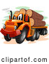 Vector of Cartoon Logging Truck by BNP Design Studio