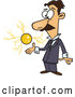 Vector of Cartoon Male Electrical Engineer, Nicola Tesla, with a Floating Ball of Energy by Toonaday