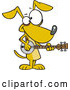 Vector of Cartoon Musician Dog Playing a Banjo by Toonaday