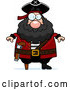 Vector of Cartoon Plump Peg Legged Pirate by Cory Thoman