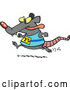 Vector of Cartoon Rat Running a Race by Toonaday