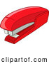 Vector of Cartoon Red Stapler by Yayayoyo