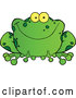 Vector of Cartoon Speckled Green Frog Smiling by Hit Toon