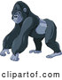 Vector of Cartoon Strong Gorilla by Pushkin