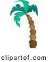 Vector of Cartoon Tall Palm Tree by Visekart