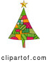 Vector of Christmas Tree of Patches by BNP Design Studio
